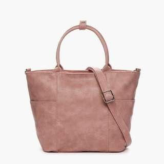 Parisian Stylish Leather Two-Way Tote Bag (Blush)