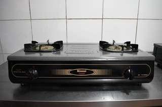 Rinnai double gas stove