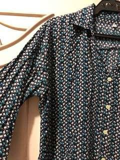 Floral Button Down Polo