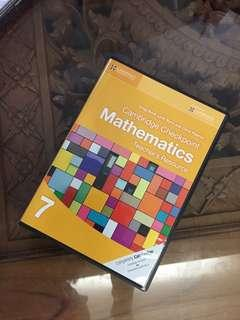 (BNWT) Free Shipping Promotion-2 in 1 Cambridge Checkpoint Teacher's Resources Mathematics Year 7 CD-ROM Textbooks