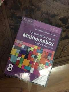 (BNWT) Free Shipping Promotion-2 in 1 Cambridge Checkpoint Teacher's Resources Mathematics Year 8 CD-ROM Textbooks