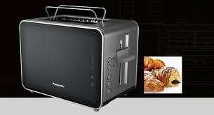 Stainless Steel and Black Toaster NT-DP1
