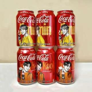 [With Drink] BTS Coca Cola CocaCola Coke Jeon Jungkook JK Park Jimin JM Special Edition Official Can