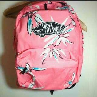🚚 Vans花卉粉色後背包