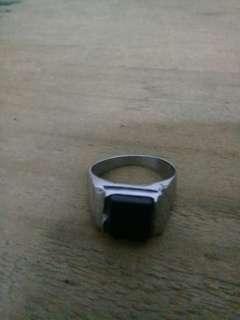Men's Ring Black Jade