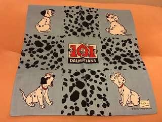 絕版 中古 Disney 101斑點狗 101 Dalmatians 手巾