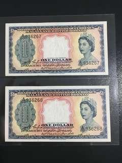 $1 Malaya & British Borneo ~ 2 pc run