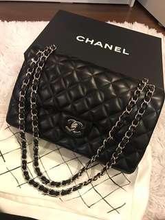 Chanel jumbo handbag lambskin shw