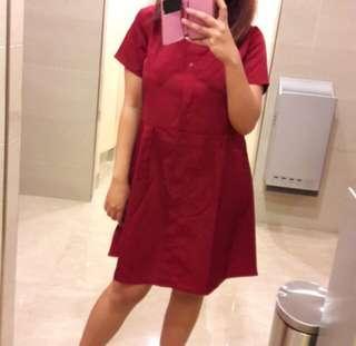 Dress merah cantik