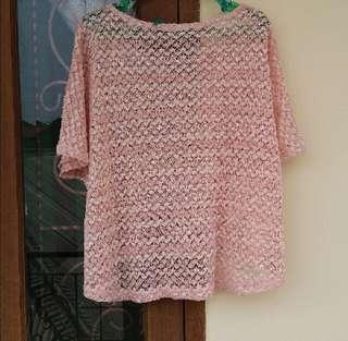 Rajut pink top