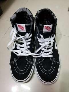 Vans Old Skool鞋 boot款黑白 甩皮平賣