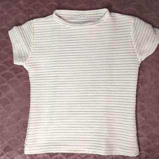 White mesh fitted top