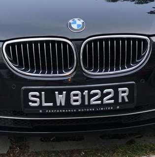 Beautiful Car Plate for Sale - SLW8122R