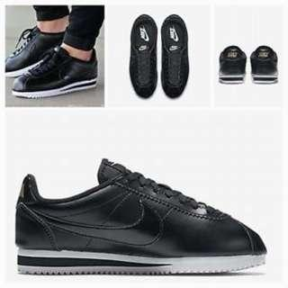 含運 NIKE 阿甘鞋 經典 Cortez Leather Wmns  807471-009 Black size 24.5