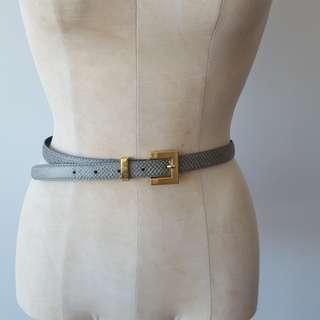 Vintage Grey & Gold Snakeskin Belt