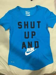 Nike Shut Up and Run Tee size S