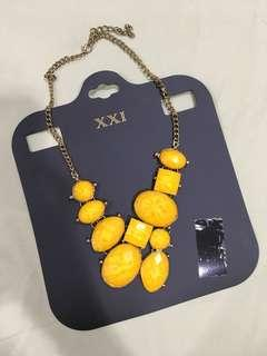 Forever21 yellow necklace