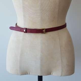 Vintage Red & Gold Snakeskin Belt