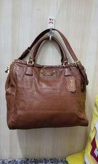 salad leather 2 way bag