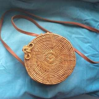 Small round Rattan Bag from Bali <3