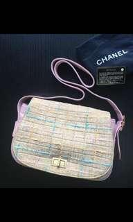 Chanel tweed re issue Pink slingbag