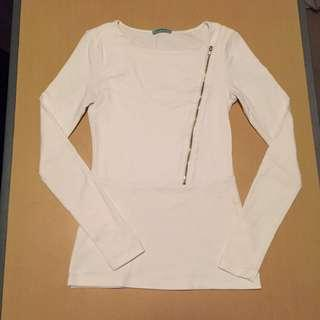 KOOKAI Zipper Top White