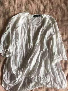 White wrap top