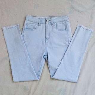 Forever 21 Light Blue Highwaist Pants