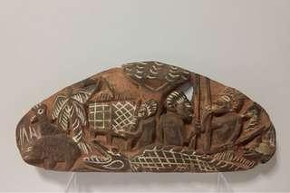 Painted Wood Board; Papua New Guinea; 20th century.