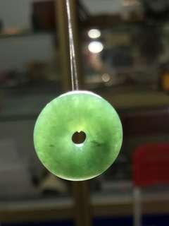 Type A Jadeite oil green small ping an kou