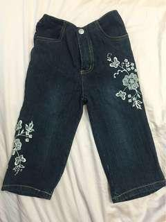 Authentic Kenneth Cole Reaction Embroidery Girl Jeans 6