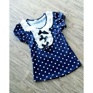 Kawaii Dark Blue Lolita T-Shirt