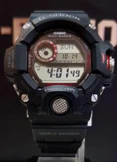 BEST🌟SELLING GSHOCK DIVER SPORTS WATCH : 1-YEAR OFFICIAL WARRANTY in 100% ORIGINAL AUTHENTIC G-SHOCK RESISTANT in BLACK RANGEMAN ABSOLUTELY TOUGHNESS : Best Gift For Most Rough Users TRIPLE SENSORS & MULTIBAND-6 : GW-9400-1DR / GW9400 / GSHOCK
