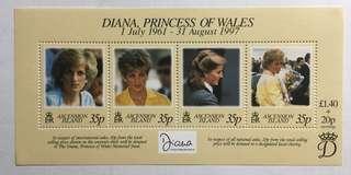 1998 Ascension Island Princess Diana MNH