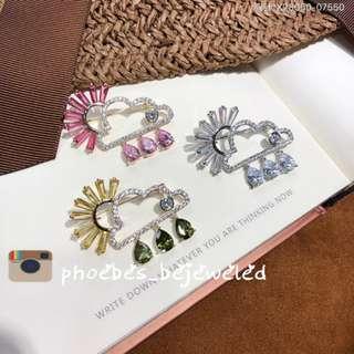 Expanda Fashion rainbow cloud brooch with zirconia gem stone