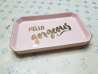 H&M Home Hello Gorgeous Statement Trinket/Coin Tray Ceramic