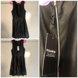Original Brand new Leather black dress Small