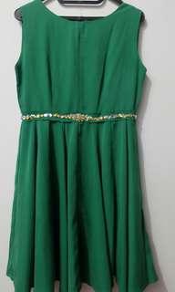 Baju Dress Green Number 61