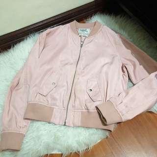 Bershka Pink Bomber Jacket