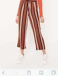 Glassons brown striped wide leg pants