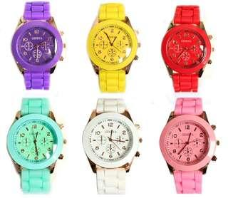 Simple candy colored watch