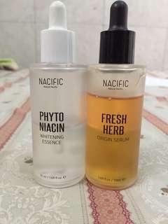 Nacific phyto niacin whitenning essence & nacific fresh herb origin serum