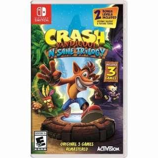 Crash bandicoot - switch