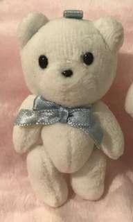Sanrio vintage sugar cream puff 絕版 罕有 雪熊 吊飾 匙扣 模型 手腳可動 珍藏