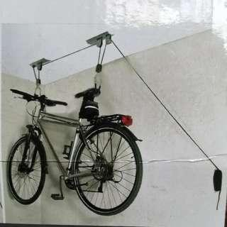 Bicycle Ceiling Mounted Hoist Pulley Rack