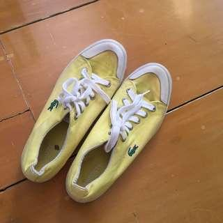 Lacoste Yellow Canvas Sneakers