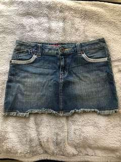 Guess Blue Denim Mini Skirt