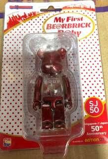 [全新現貨] 100% Bearbrick My First 1st Baby SJ50 Red 紅色 Medicom Be@rbrick