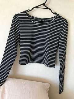 Striped long sleeve Glassons crop