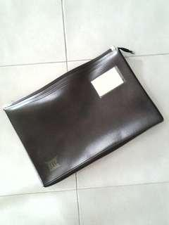 Brown PU Leather Document Bag